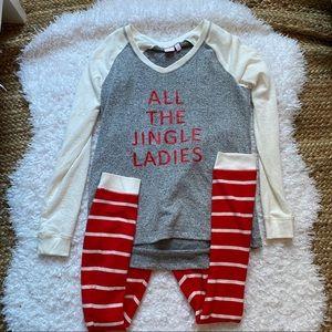 Make + Model Jingle Ladies Christmas Pajamas XS